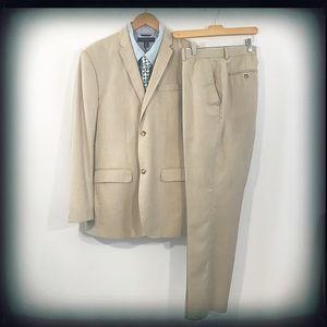Perry Ellis Men's Tan Suit EUC